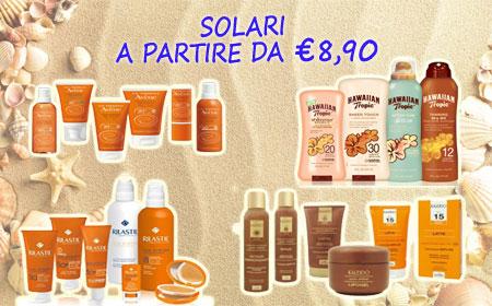 SOLARI A PARTIRE DA €8,90
