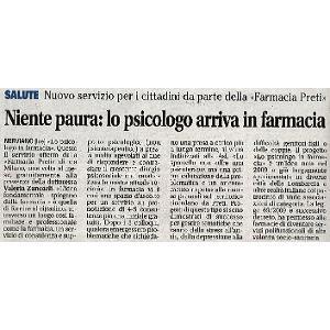 NIENTE PAURA: LO PSICOLOGO ARRIVA IN FARMACIA